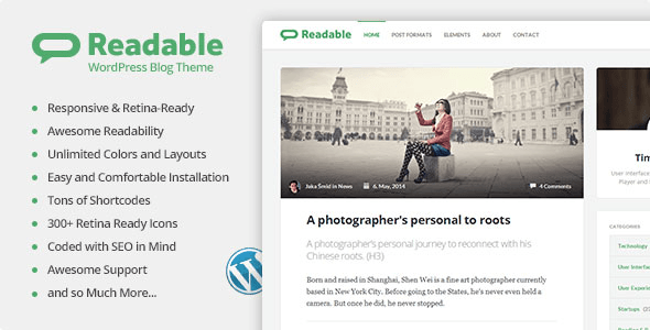 Readable - WordPress Theme Focused on Readability