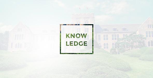 Knowledge :: Multi-Purpose PSD Template