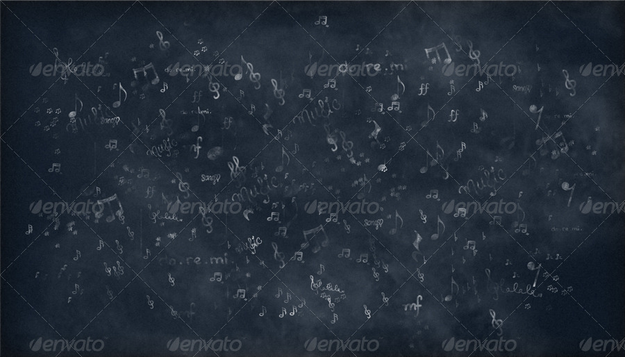 music notes chalkboard backgrounds by criscx22 graphicriver