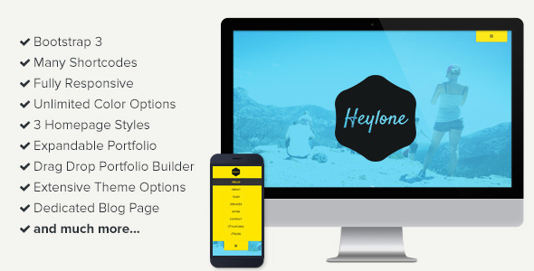 Heylone – One Page Parallax WordPress Theme