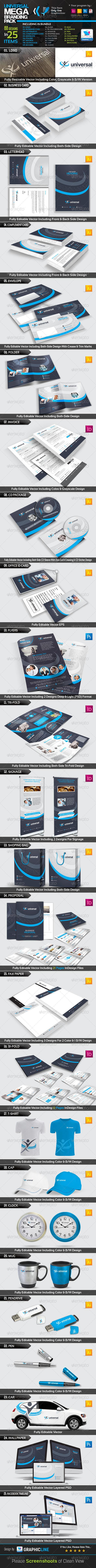 Universal_Mega Branding Pack - Stationery Print Templates