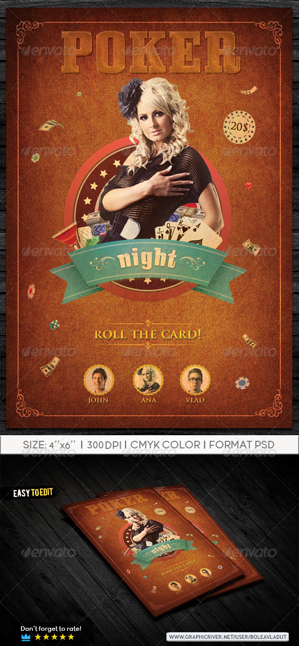 Poker Night - Events Flyers