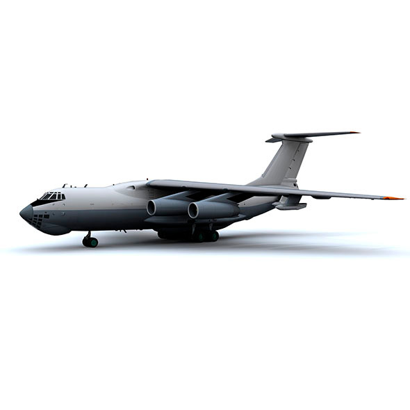 military_aircraft_hi_poly_animated - 3DOcean Item for Sale