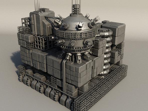 Sci Fi Box Building 5 - 3DOcean Item for Sale