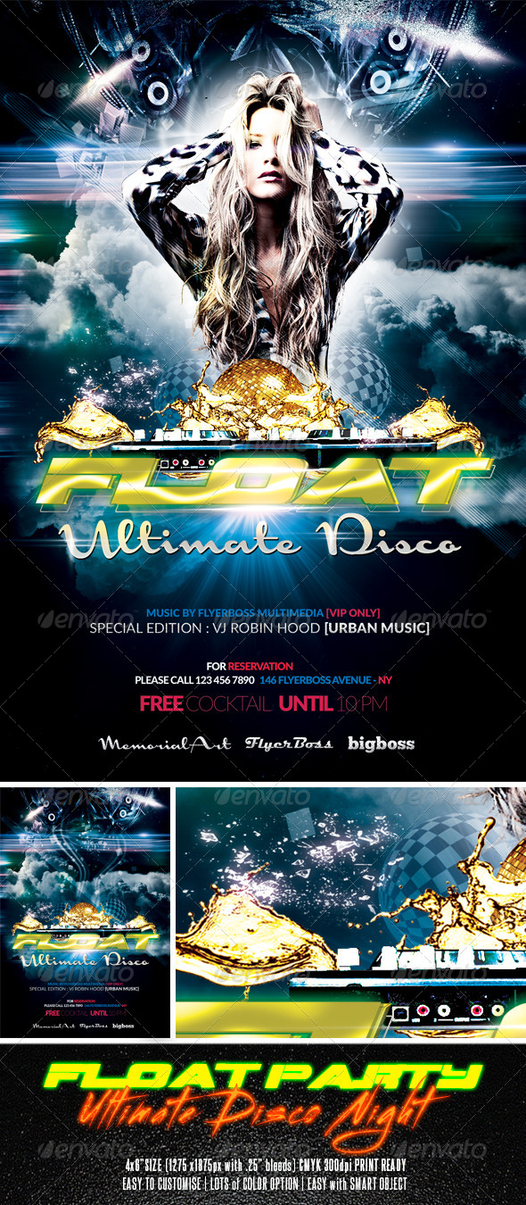 Float Party Flyer - Clubs & Parties Events