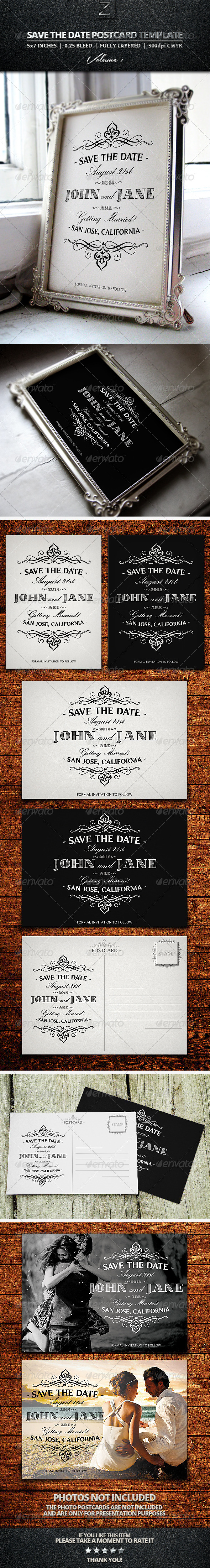 Save The Date Postcard Templates Vol.1 - Weddings Cards & Invites