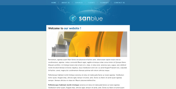 Sanblue - Corporate Site Templates