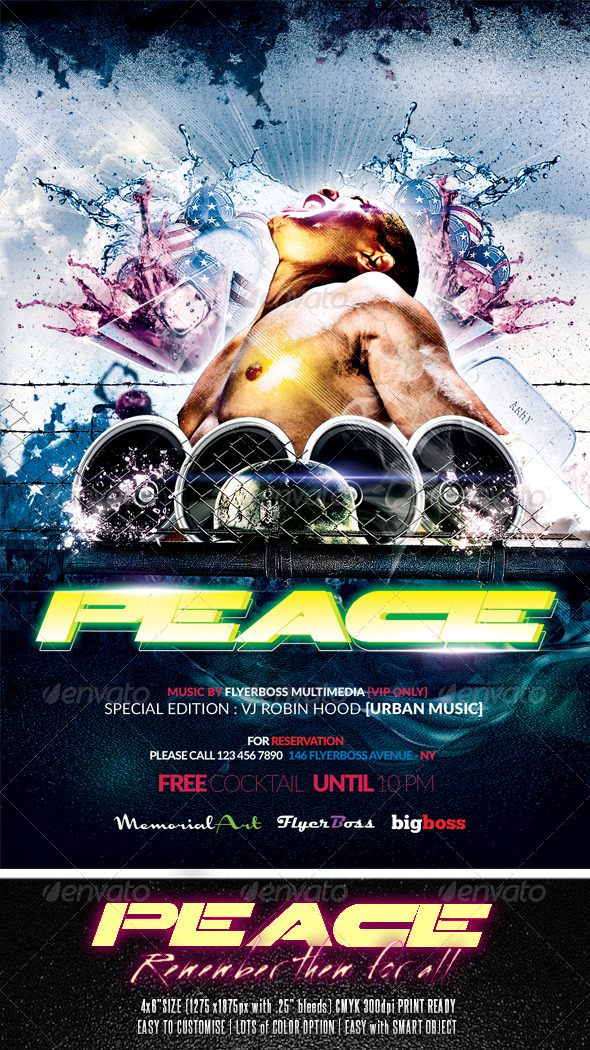 Peace Party Flyer - Events Flyers