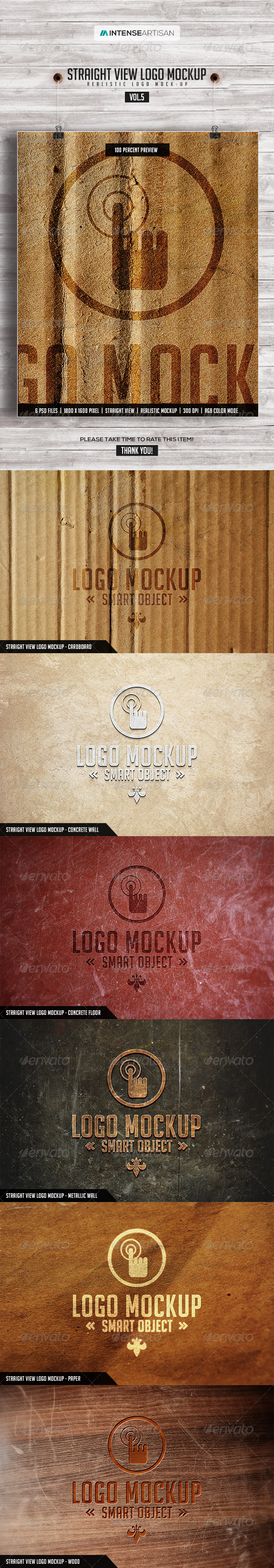 Straight View Logo Mockup - Vol.5 - Logo Product Mock-Ups