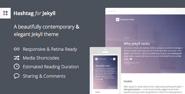 Download Hashtag for Jekyll - An Elegant Blog Theme nulled version