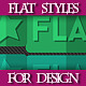 Set of Colorful Flat Graphic Styles for Design - GraphicRiver Item for Sale
