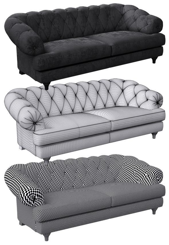 Sofa classic - 3DOcean Item for Sale
