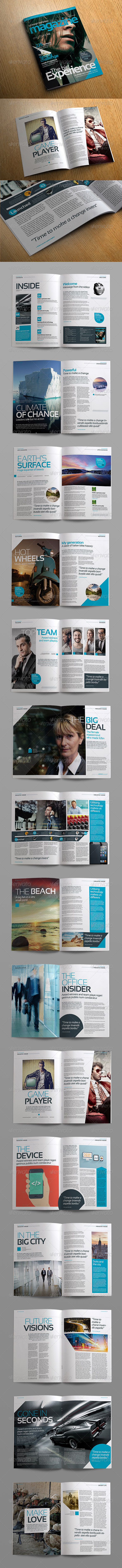 Stylish Volume 2 InDesign Magazine Template - Magazines Print Templates