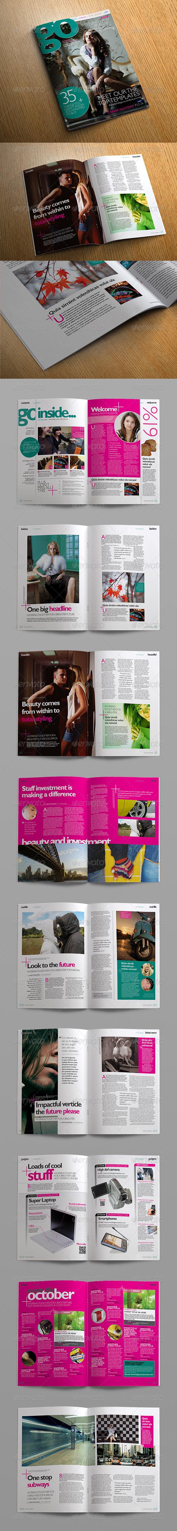 Go Creativity Magazine - Magazines Print Templates