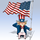 Uncle Sam - Saluting the US Flag - GraphicRiver Item for Sale