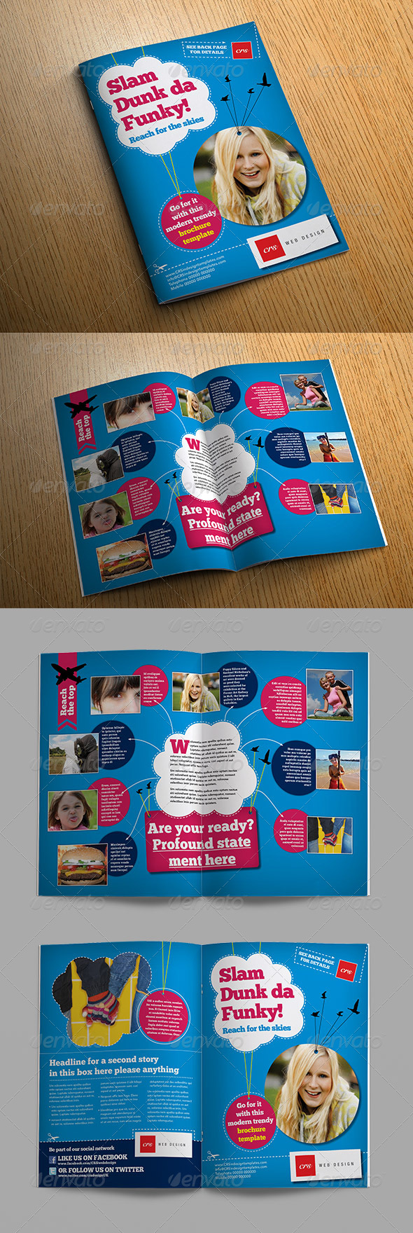 Funky Brochure Template - Informational Brochures