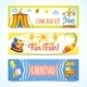 Carnival Banners Horizontal - GraphicRiver Item for Sale