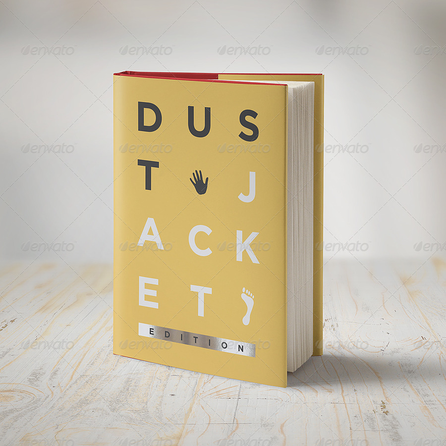 Book Mock-Up / Dust Jacket Edition by punedesign | GraphicRiver