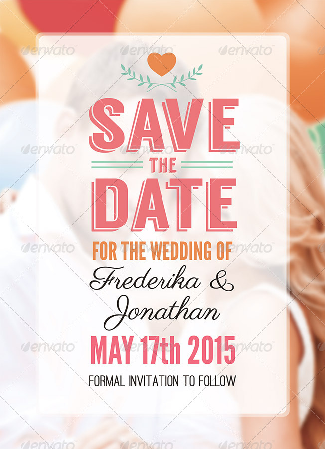 stripes save the date psd template by carouselleriecreative
