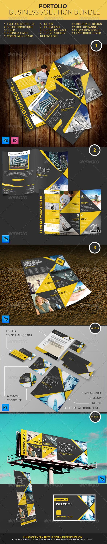 Portolio Business Solution Bundle - Print Templates