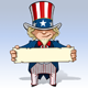 Uncle Sam - Holding a Sign - GraphicRiver Item for Sale