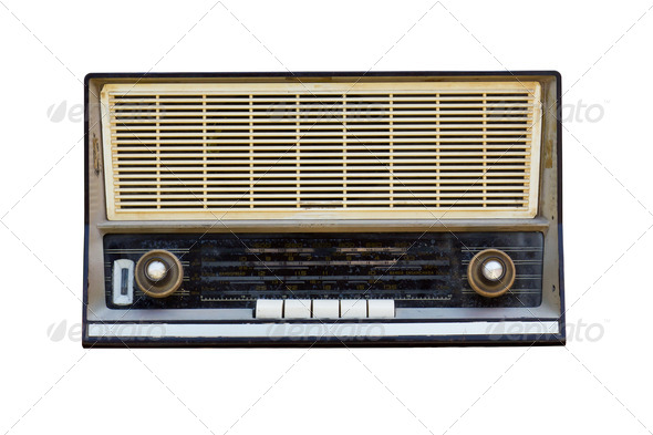 Old radio isolated - Stock Photo - Images
