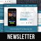 Flat App Publishing Enewsletter Template - GraphicRiver Item for Sale
