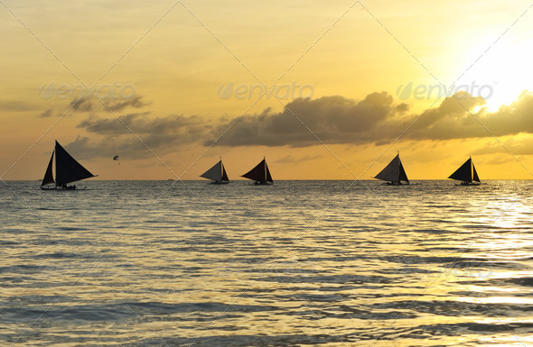 Beautiful sunset - Stock Photo - Images