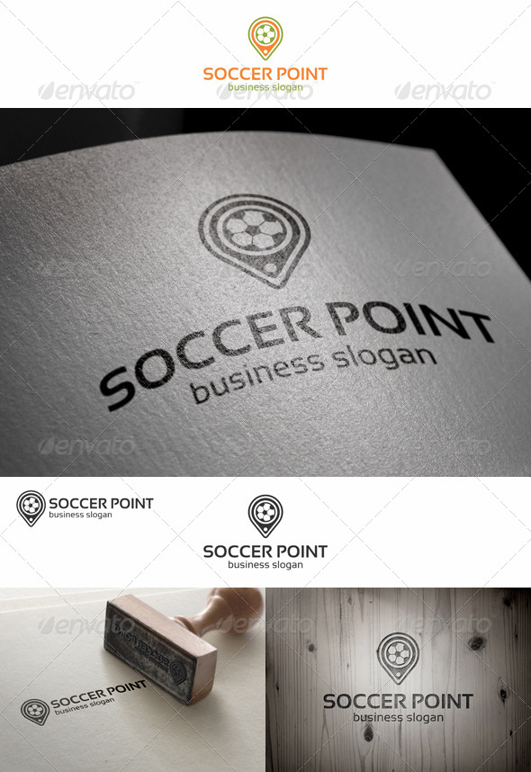 Soccer Point Locator Logo - Objects Logo Templates