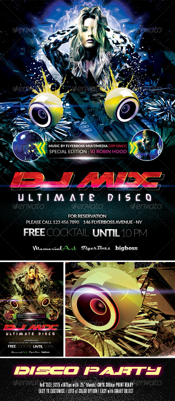 Disco Party Flyer - Events Flyers