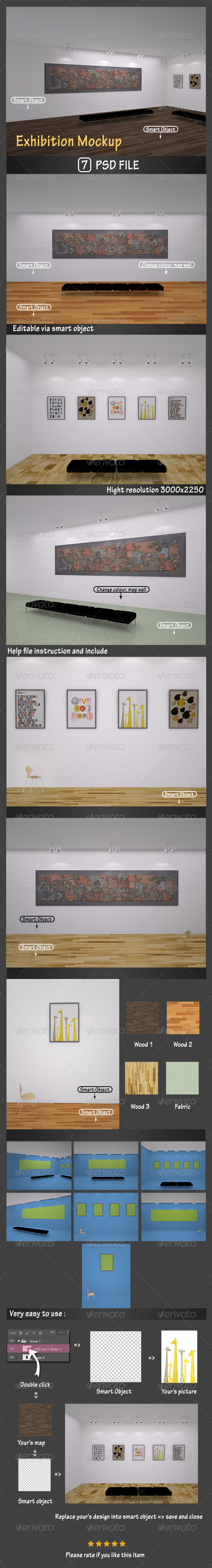 Exhibition Mockup - Posters Print