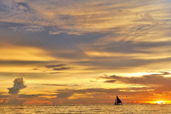 Beautiful sunset - Stock Photo - Images