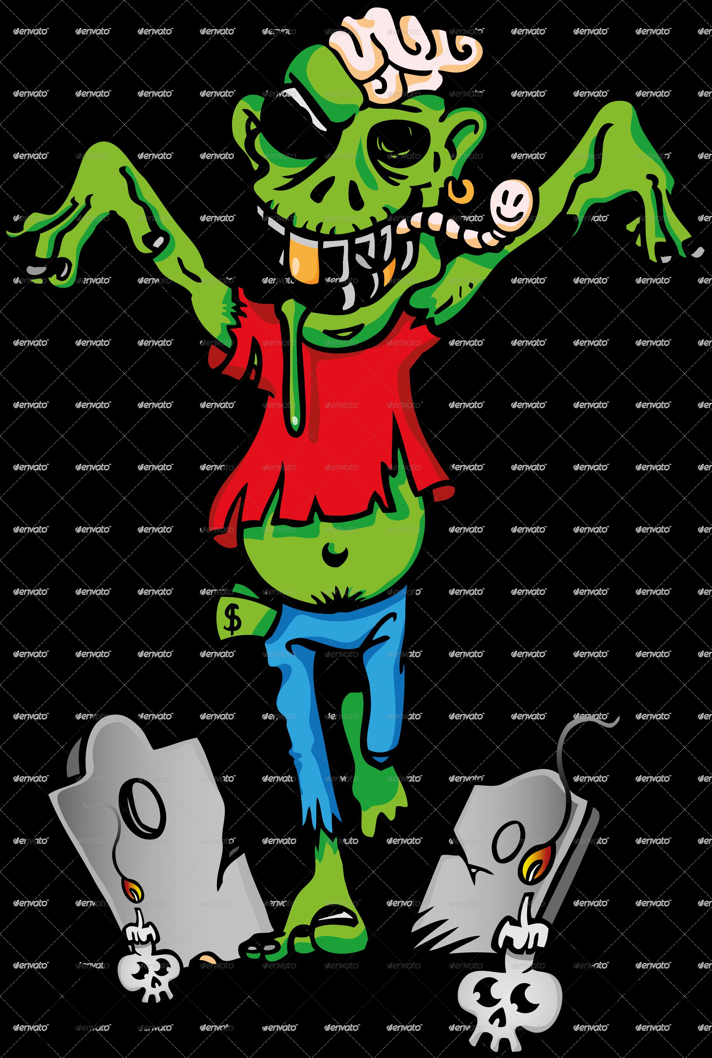 92 Foto Gambar Kartun Zombie Paling Keren