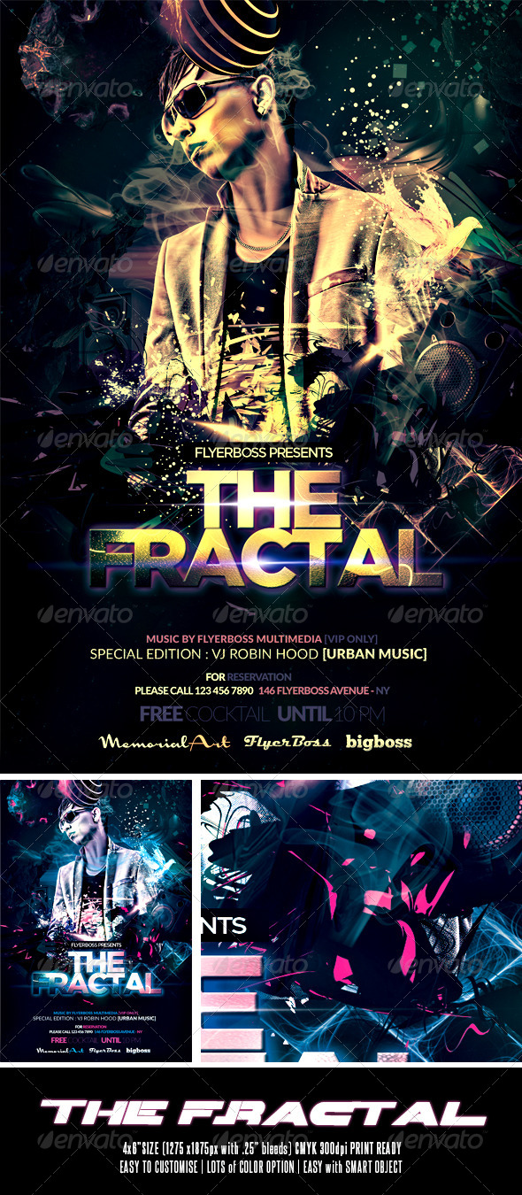 The Fractal Flyer - Events Flyers