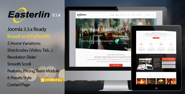 Easterlin – Responsive Joomla Business Template