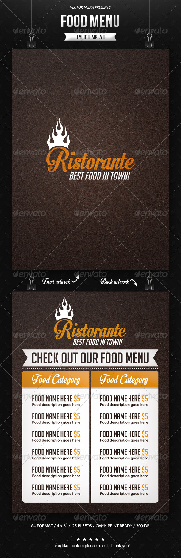 Food Menu - Flyer