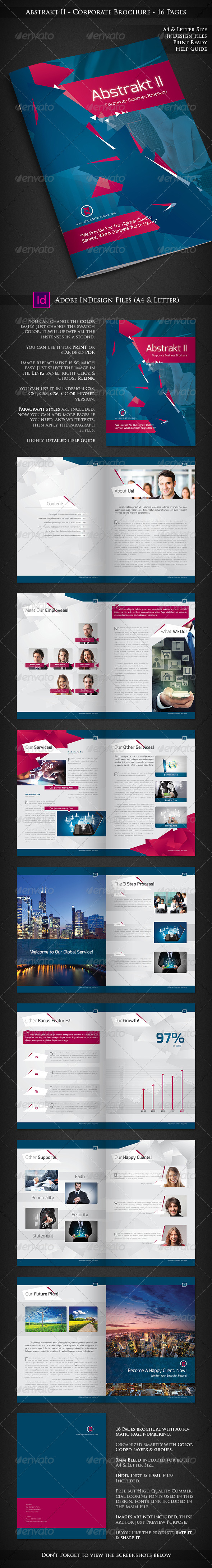 Abstrakt II - Corporate Company Profile - 16 Pages - Corporate Brochures