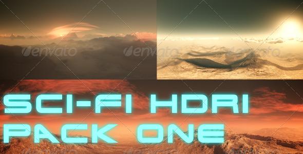 Sci-Fi Planet HDRI / 360 Degree Environment Set - 3DOcean Item for Sale