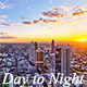 Modern Skyline Day to Night - VideoHive Item for Sale