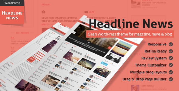 Headline News – Clean and Modern Magazine Theme
