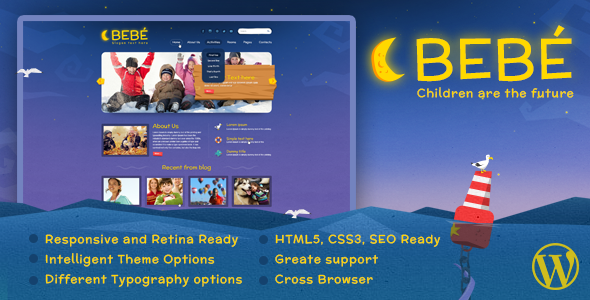 BeBe Responsive WordPress Theme - Children Retail