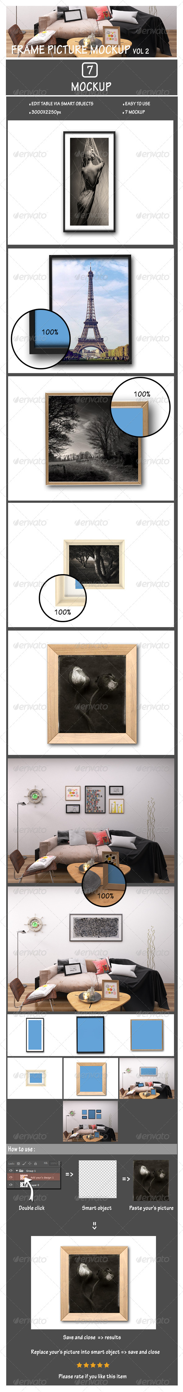 Frame Picture Mockup Vol2 - Posters Print