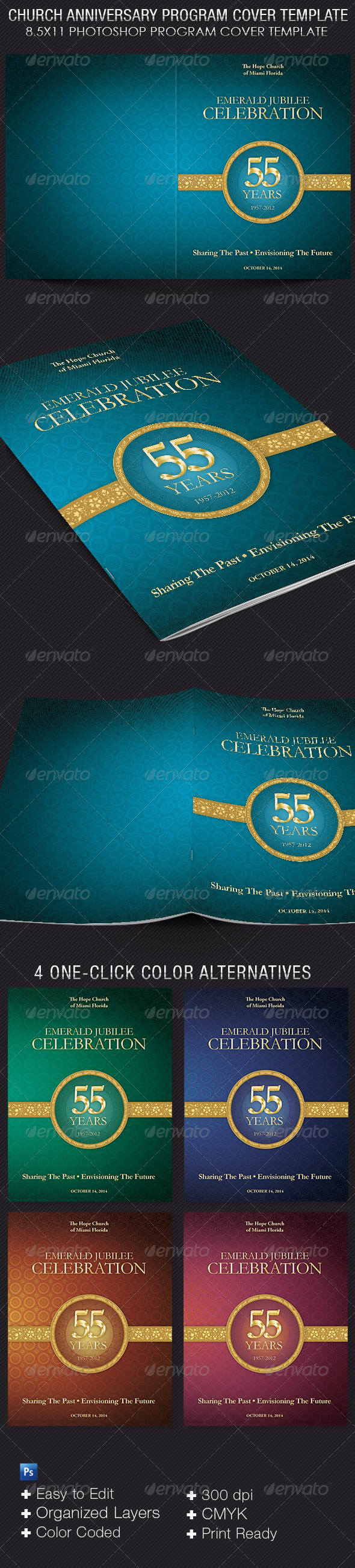 church anniversary program cover template by 4cgraphic