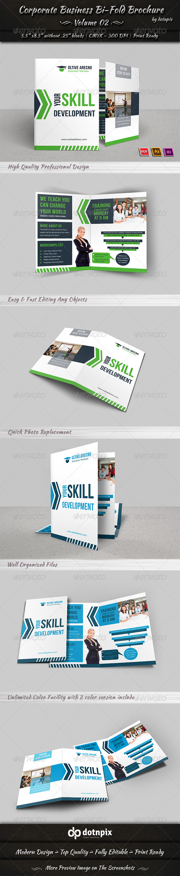 Corporate Business Bi-Fold Brochure | Volume 2 - Corporate Brochures