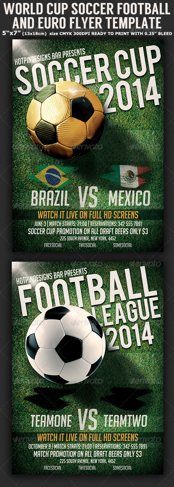Captivating Brazil Soccer Football Cup Flyer Template   Sports Events Nice Look