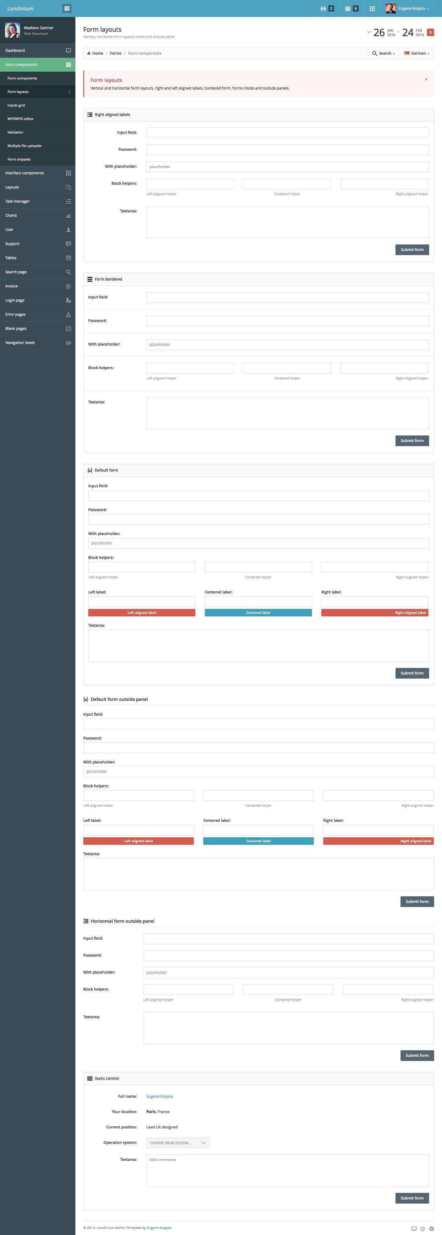 Londinium responsive bootstrap 3 admin template by kopyov londinium responsive bootstrap 3 admin template falaconquin