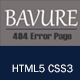 Bavure - Responsive 404 Error Template - ThemeForest Item for Sale