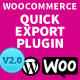 WooCommerce Quick Export Plugin