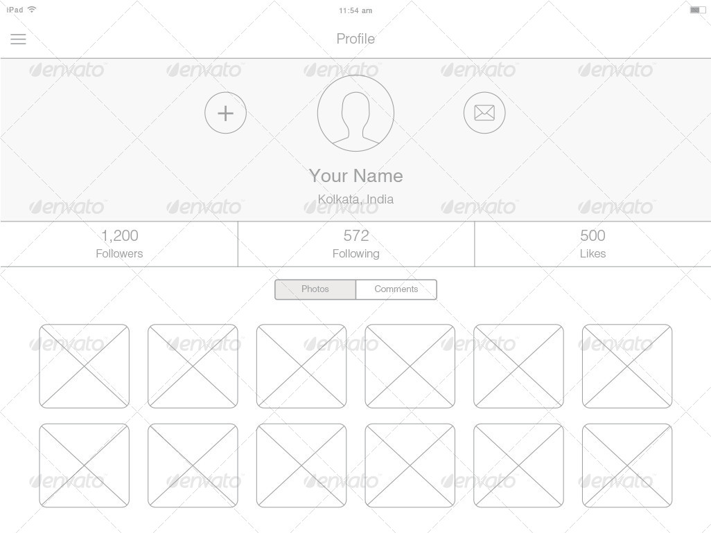 ipad wireframe kit - Wireframe Ipad
