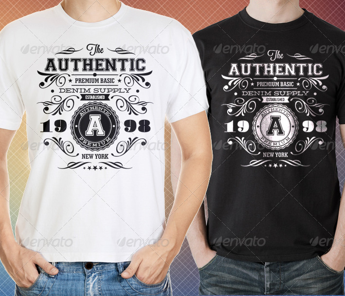 Authentic Vintage TShirt Templates By Ideaofart GraphicRiver - Property of t shirt template